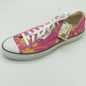 Converse Pink & Yellow Floral Sneakers